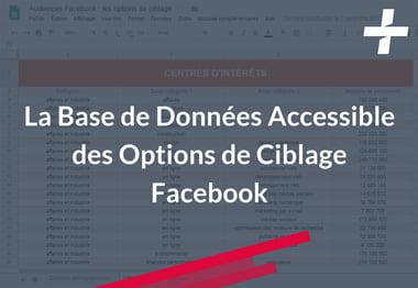 Facebook Audiences, options de ciblage : Base de données - Résultats Plus Groupe