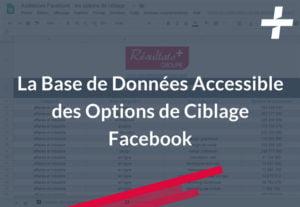 La base de données accessible des options de ciblage Facebook tester et trouver vos meilleurs audiences !