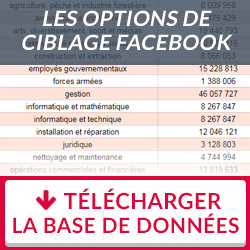 La base de données accessible des options de ciblage Facebook