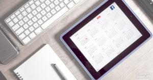 Vendre sur Facebook : calendrier publications Facebook